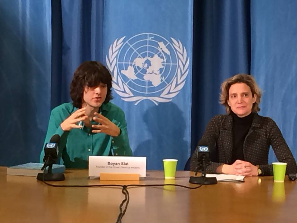 UN Award for 20 Year Old Ocean Cleaner!